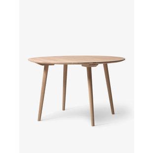In Between Table round 120 cm white oiled oak showroommodel