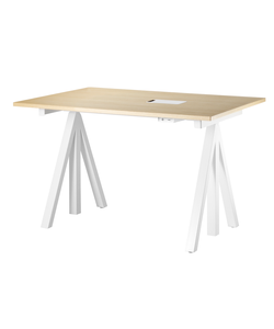 Height-adjustable work desk 120 x 78 cm