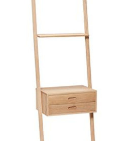 Hübsch Display ladder w/drawers, oak, nature 52x41xH180 cm