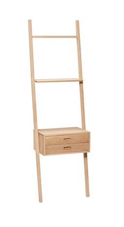 Hübsch Display ladder w/drawers, oak, nature 52x41xH180 cm