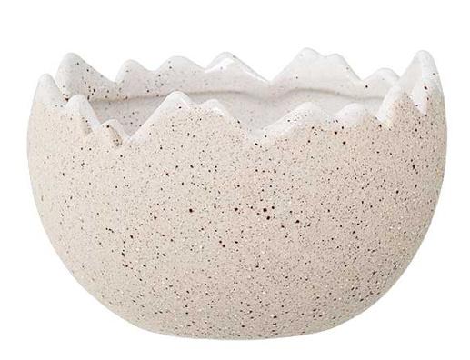 Bloomingville Flowerpot, White, Stoneware dia 13xH8 cm