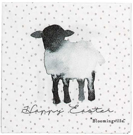 Bloomingville Napkin, White, Paper L25xW25 cm (20 per pak)