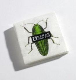Serax Servet kever groen 25x25 cm