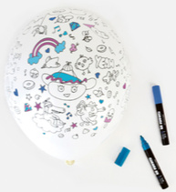 Omy Set van 5 ballonnen om in te kleuren