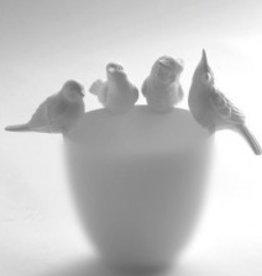 Serax Vogeldeco voor vaas/pot/theelicht (set van 4)
