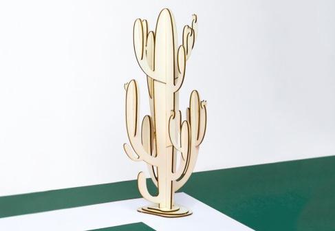 Papier Tigre Wooden Cactus