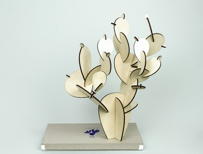 Papier Tigre Wooden cactus _ Prickly Pear