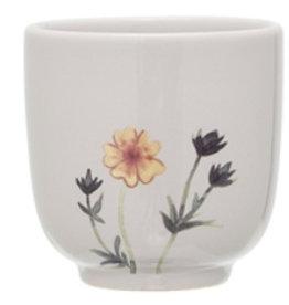Bloomingville Flora cup_Multi color, Stoneware dia7*H7 beige
