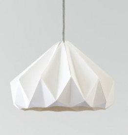 Studio Snowpuppe Chestnut gevouwen papier origami lamp wit