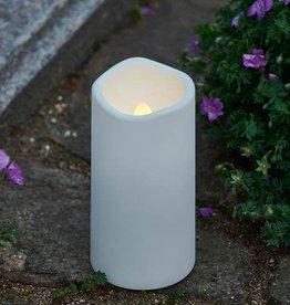 Sirius Kaars cremetery H12,5 cm met timer_wit voor buiten en binnen (batterij 3xAAA)