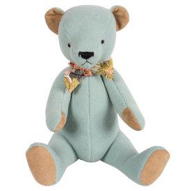 Maileg Teddy beer blauw met zakje