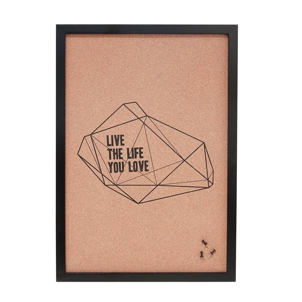 Hübsch Notitiebord kurk _ Print The Life You Love