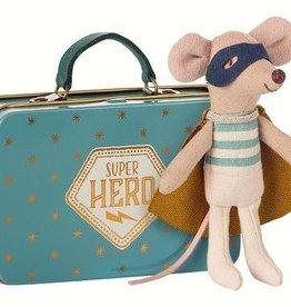 Maileg Superheld muis in koffer