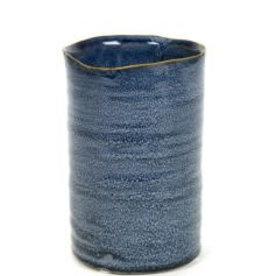 Serax Cilindervaas Spikkel Blauw Small D9,5 H14,5