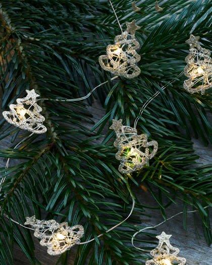 Sirius Edith tree, 10L, glitter/goud (batterij 2xAA)