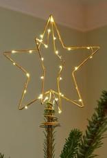 Sirius Christmas top, goudkleurig, 25 cm_nieuwe collectie (batterij 2xAAA)