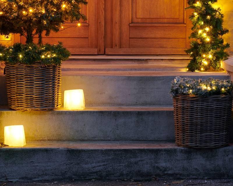 Sirius Kerstmis krans, groen, diameter 45 cm voor binnen en buiten_nieuwe collectie (3xAA)