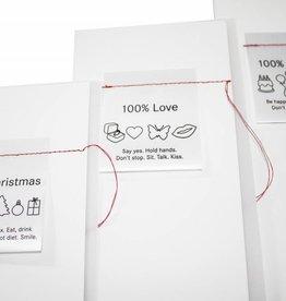 Raumgestalt Kaart met een liefdesboodschap