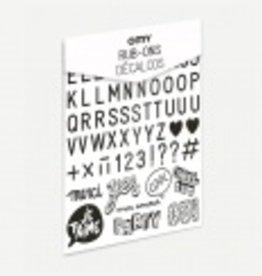 Omy Mini kit DECALCOMANIEËN _ LETTERS