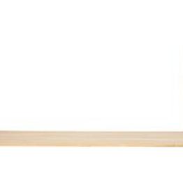 Hübsch Plank, lederen band, hout, nature, small 60x20xH27
