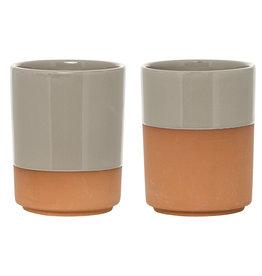 Bloomingville Pot_terracotta_Ø 7,5 x H9,5 cm (2 pcs)