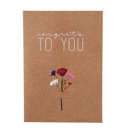 Räder Bloemenkaart _ CONGRATS TO YOU