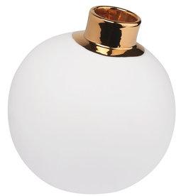 Räder Kerstbal _ wit / goud _ large