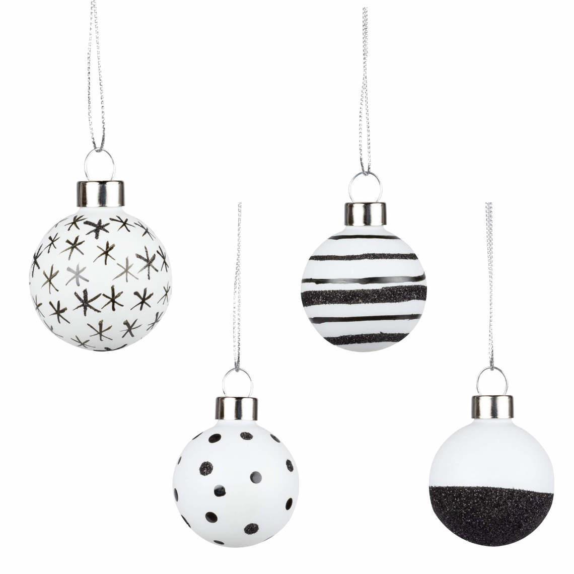 Räder Glitterende kerstballen _ set van 4