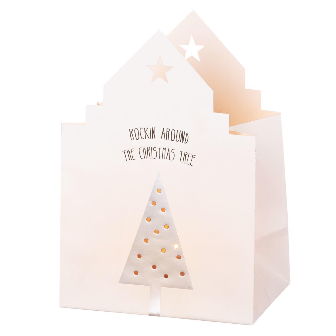 Räder Kerstmis lichtkaart _ Kerstboom