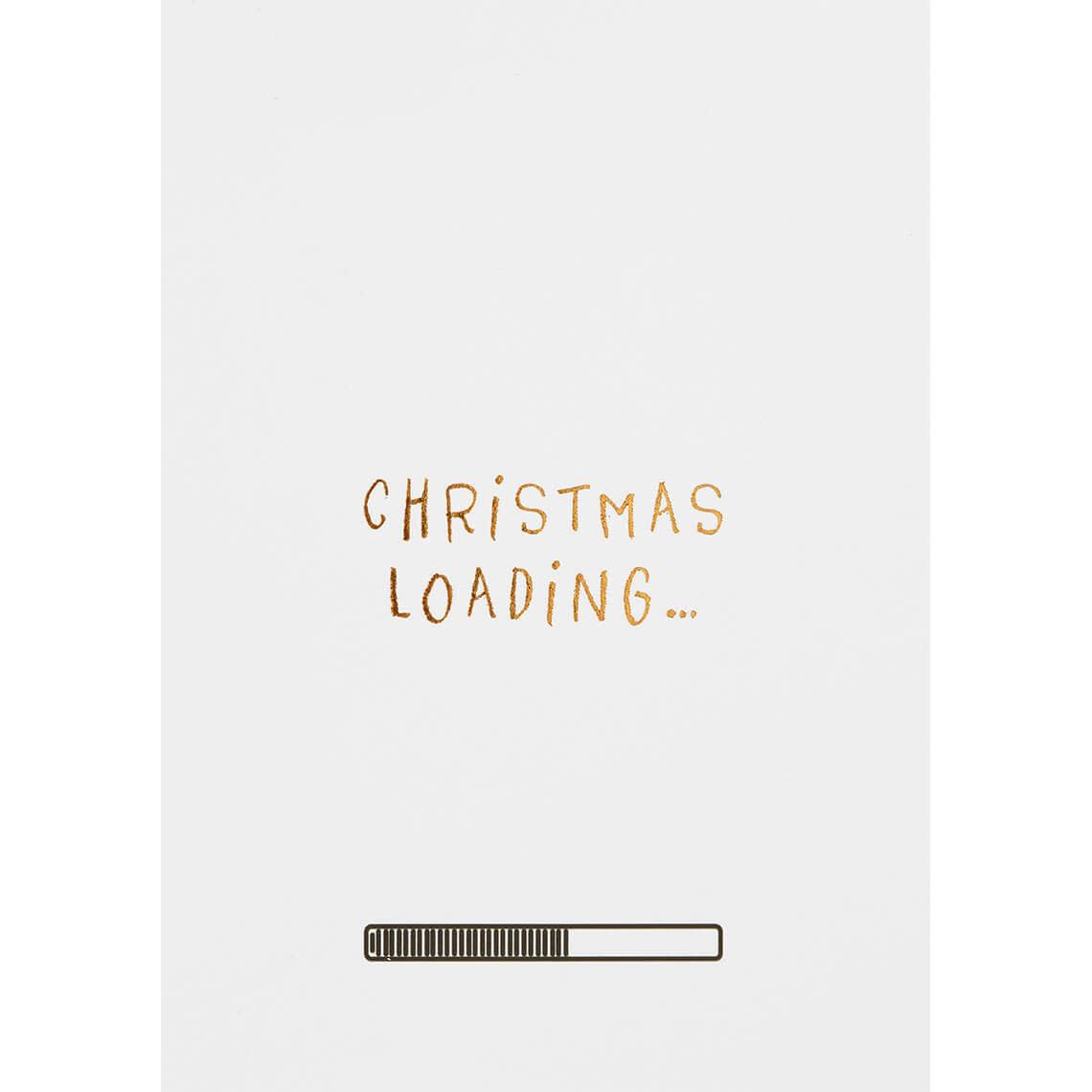 Räder Christmas loading _ postkaart