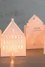Räder Kerstmis lichtkaart
