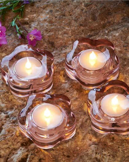 Sirius LED-theelichten met een zacht flikkerende vlam (set 4 stuks)