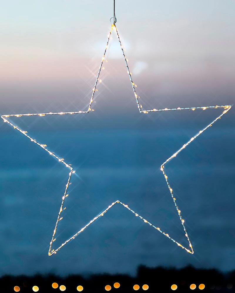 Sirius Elegante witte metalen ster