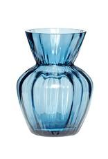 Hübsch Vaas _ glas _ blauw _  Ø9*H 12 cm
