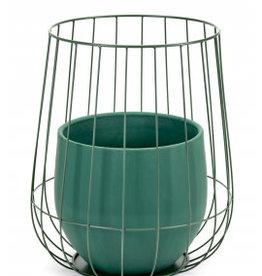 Serax Pot in een kooi Kaki