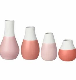 Mini pastel vazen (set v. 4) / Ø 4 cm / H 4,5-8 cm