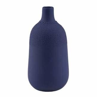 Pearl vase design Indigo blauw / Ø 5,5 cm / H 11,5 cm
