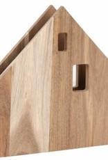 Räder Servettenhouder huis acacia 22*21,5*4 cm