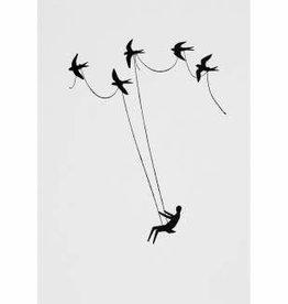 Wonderland postkaart vogels