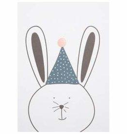 Party animals - postkaart feestende konijn