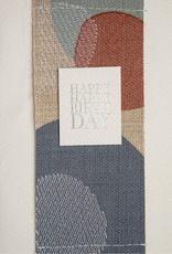 Geborduurde kaart _ Happy happy birthday