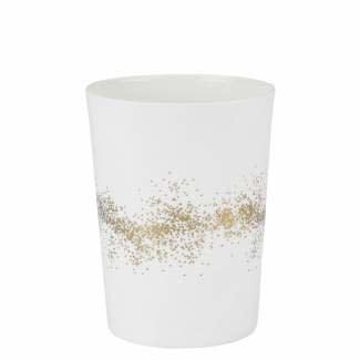 Räder Theelicht gold dust medium _ Ø 8cm / H 10cm