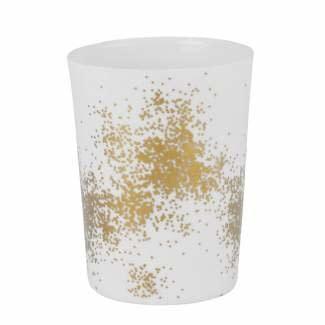 Räder Theelicht gold dust large _ Ø 9cm / H 12cm