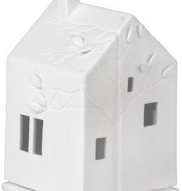 Verlicht porseleinen huisje