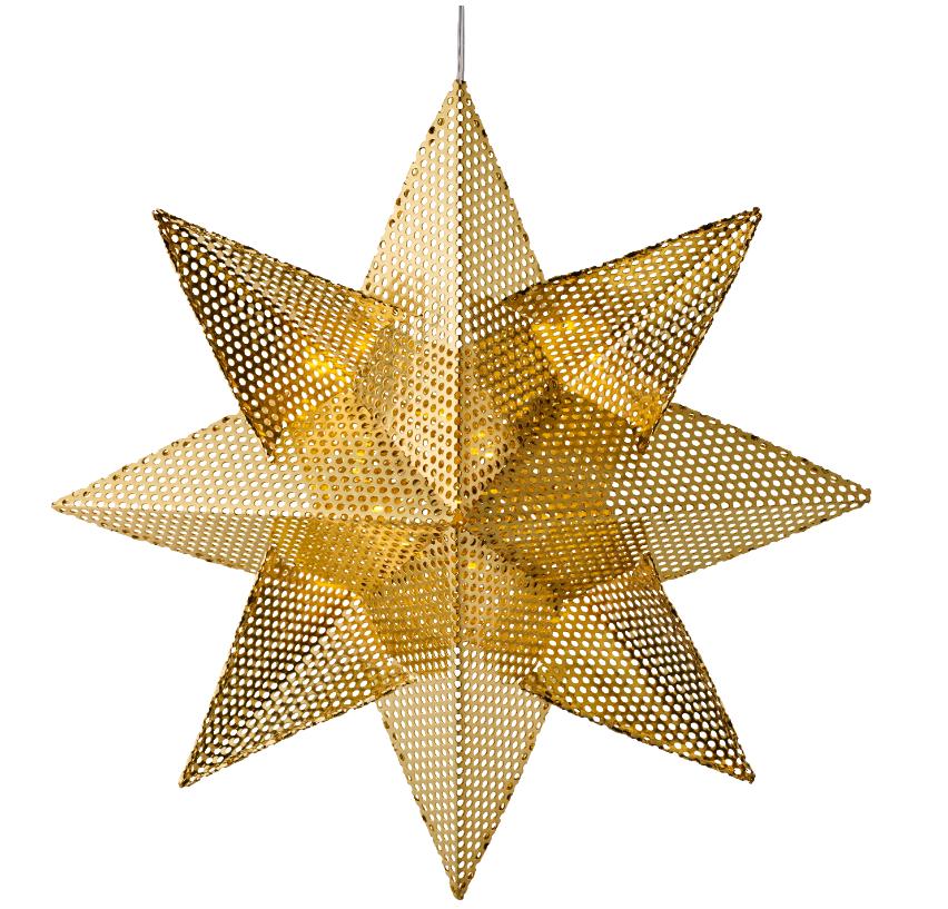 Lene Star, Ø 33cm, gold