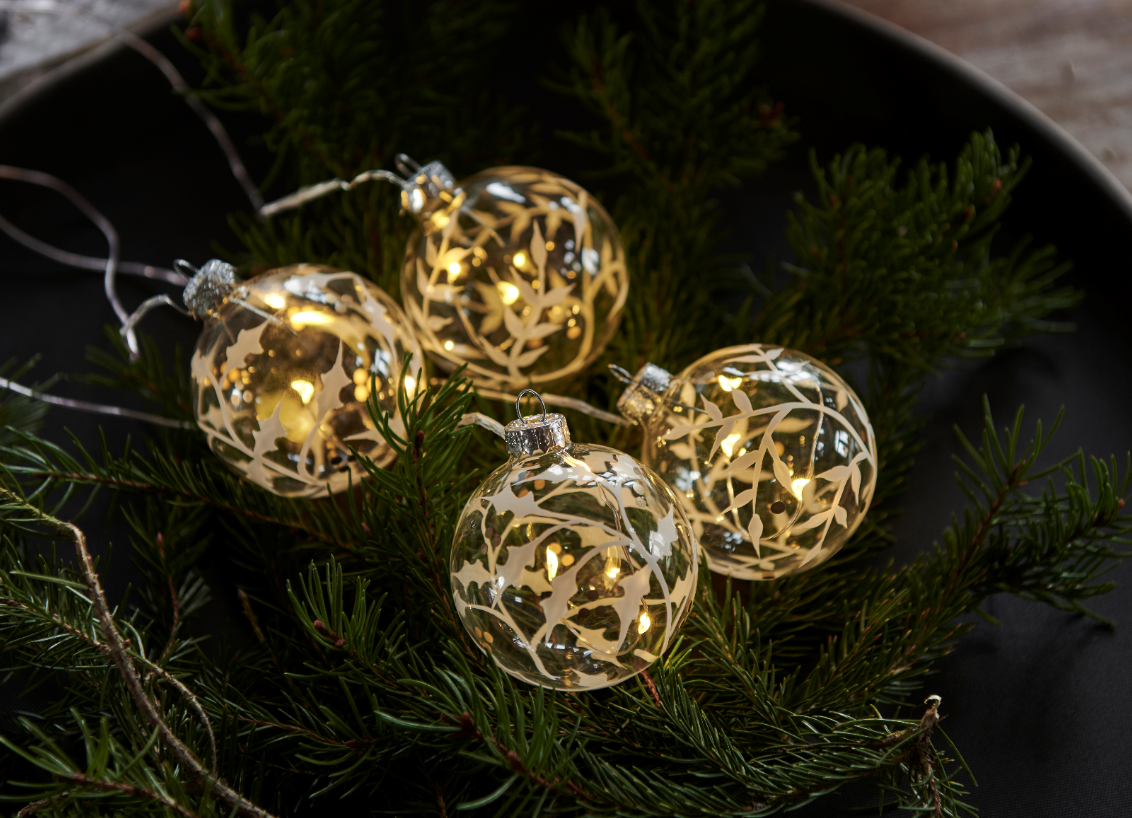 Christmas tree balls, (4st)