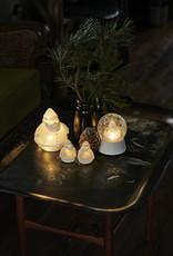 Santa Snowglobe, wit keramisch