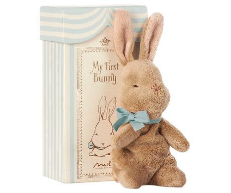 Maileg My first bunny in box, blauw