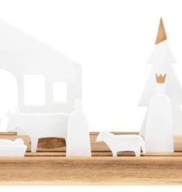 Räder Verlichte kerststal