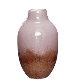 Hübsch Vaas, glas, paars/wit _ ø21xh37cm